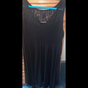 Lane Bryant Black Lace Tank Swing Dress